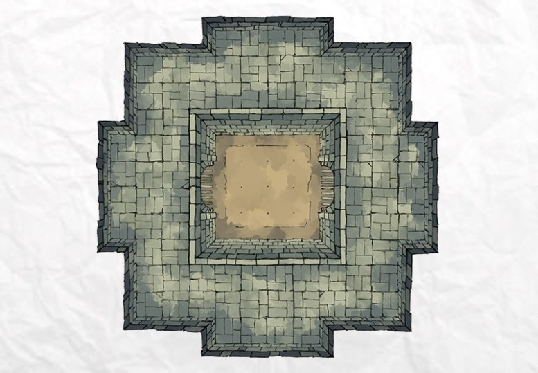 Dungeon Fighting Pit (color)