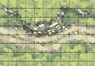 Roadside Rise Battle Map (grid)