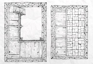 Dungeon Vault Battle Map Tile, lines