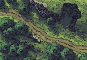 Hillside Altar battle map, color