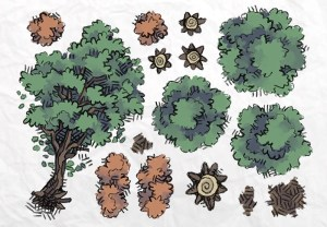 Roadside Forest Tokens Page 1