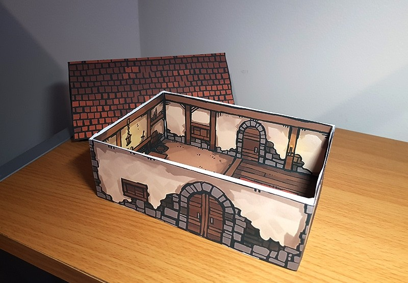 Papercraft House, pieces