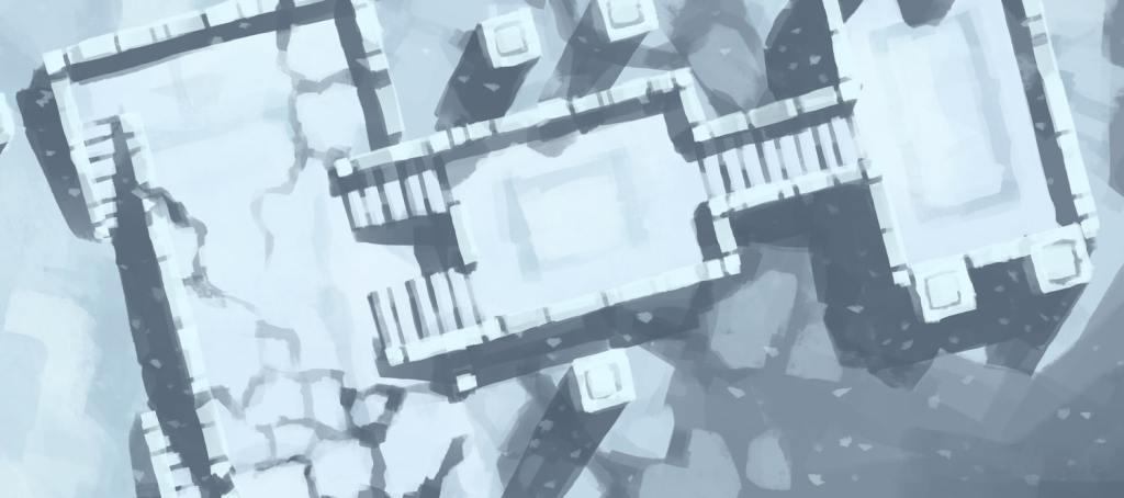 Snowy Sanctum battle map, banner