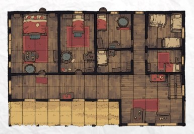 Typical Tavern, floor 2 rooms