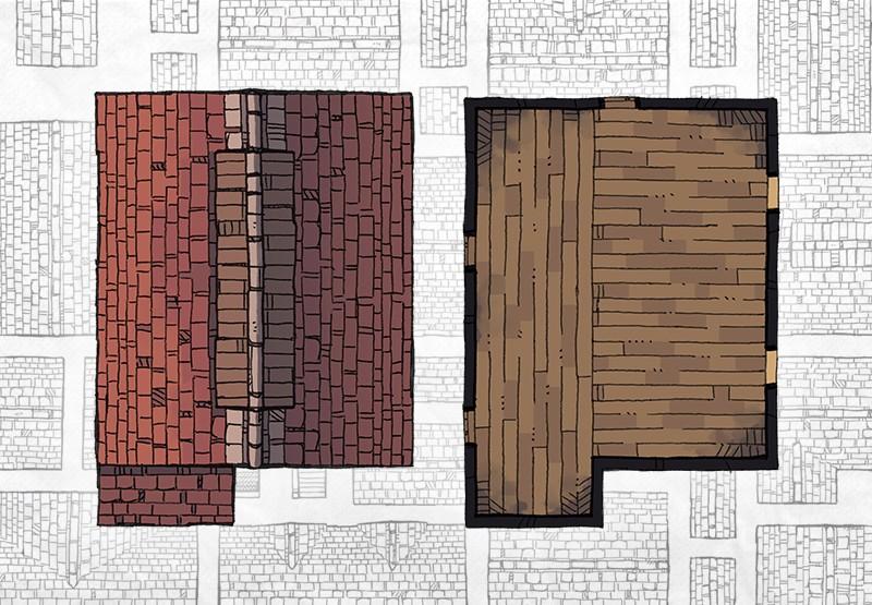 Buildings RPG battle maps, buildings preview