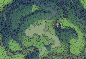 Highland Pass battle map, color, no grid