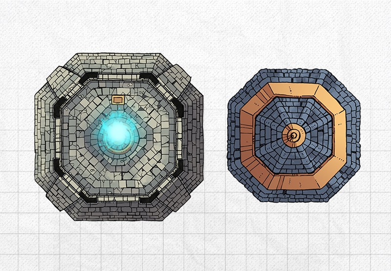 Lighthouse RPG battle map, roof