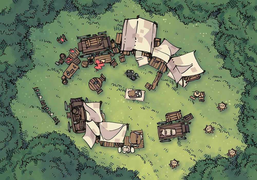Bandic Camp Assets and Battle Map, Battle Map Preview