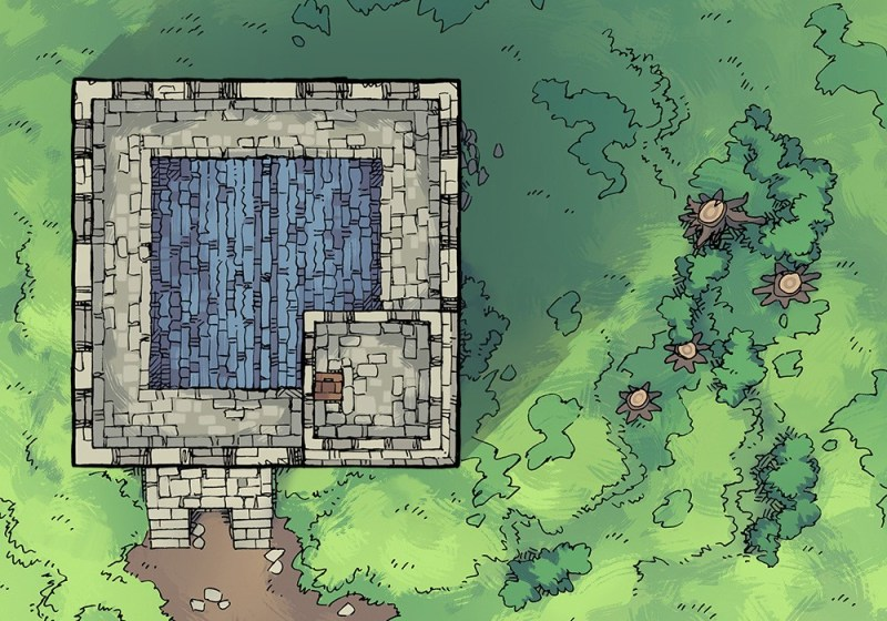 Square Keep Hill Battle Map, second floor