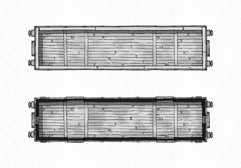 Cargo Cars, B&W Preview