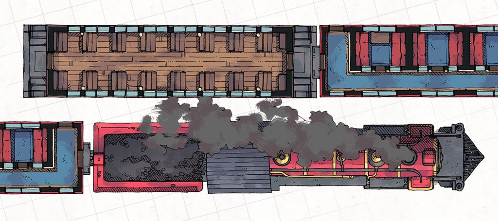 Steam Train Passenger Cars, Banner Preview