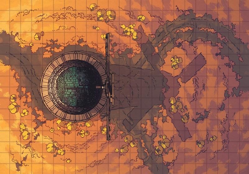Pumpkin Hill Halloween Battle Map – Color & Grid Preview