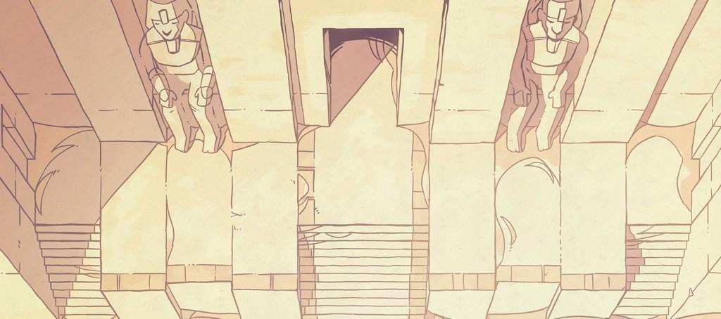 Desert Temple Battle Map, color banner