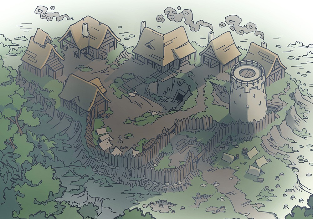 Fog's Edge Outpost Jungle Town Map, FogsEdgeOutpost