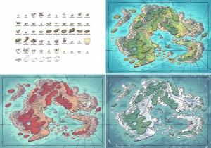 Arvyre Fantasy Map - Variants and Assets