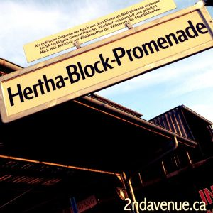 Hertha Block Promenade street sign