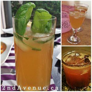 Three different bourbon sours