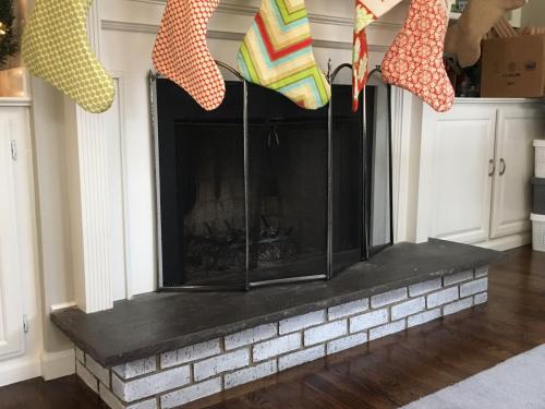 fireplace Dana after