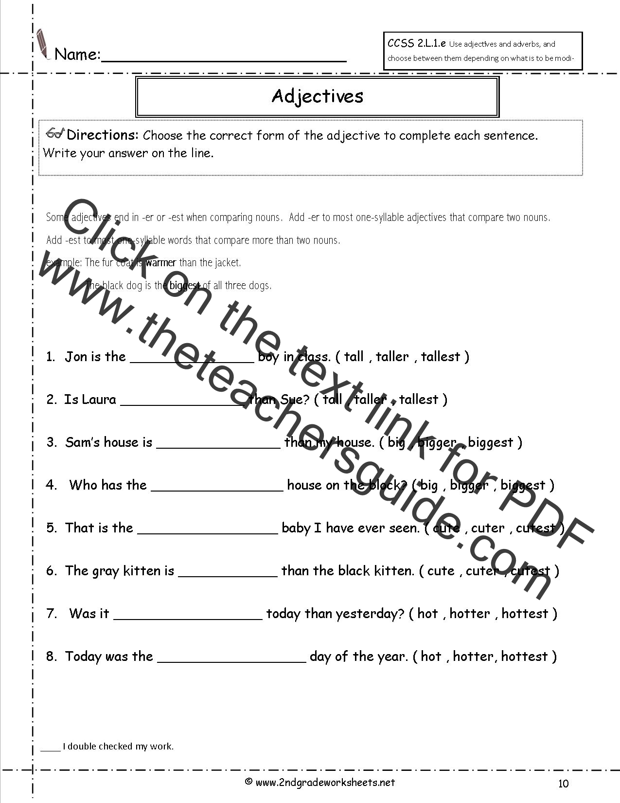 34 Adverbs And Adjectives Worksheet
