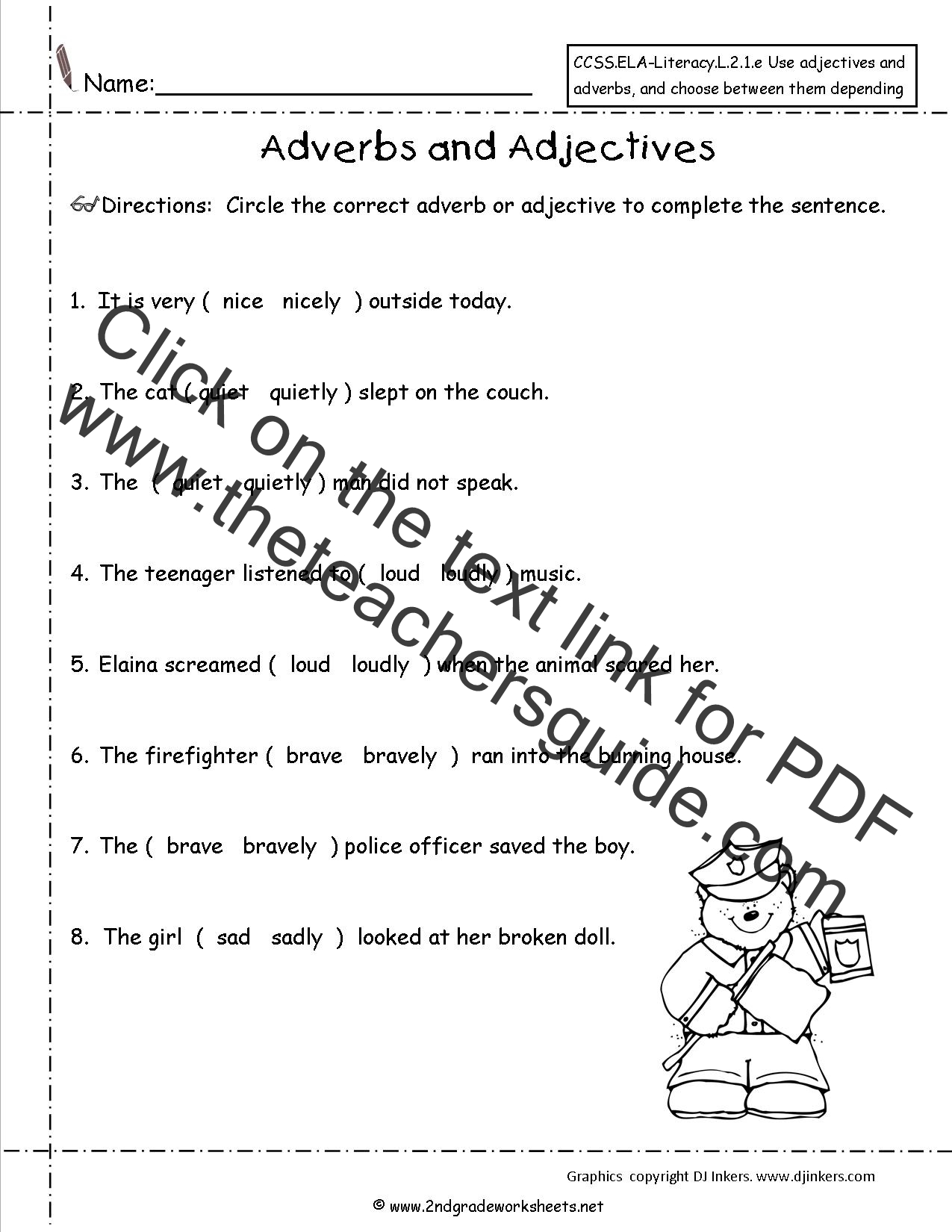 Printables Of Adverb Or Adjective Quiz