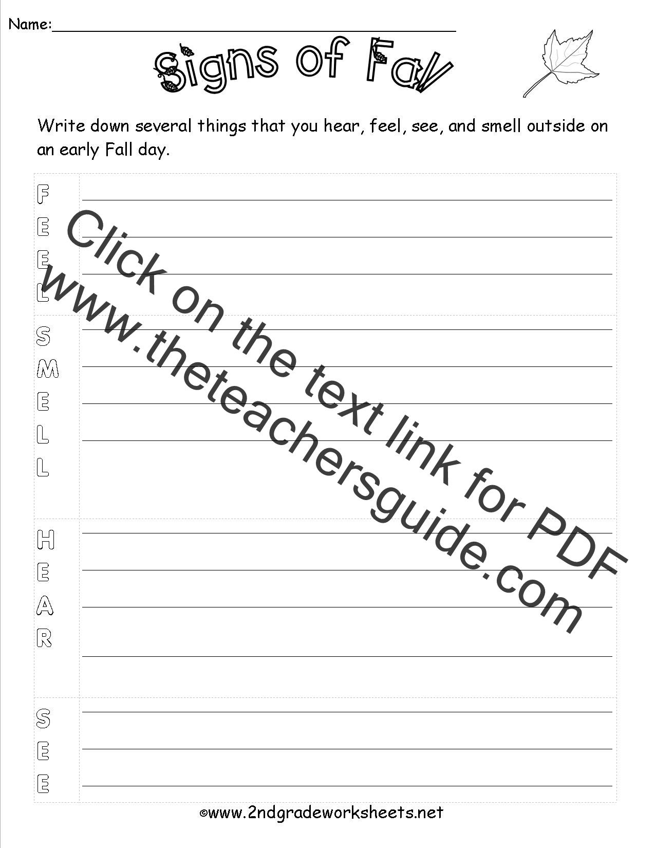 Autumn Theme Worksheets And Printouts