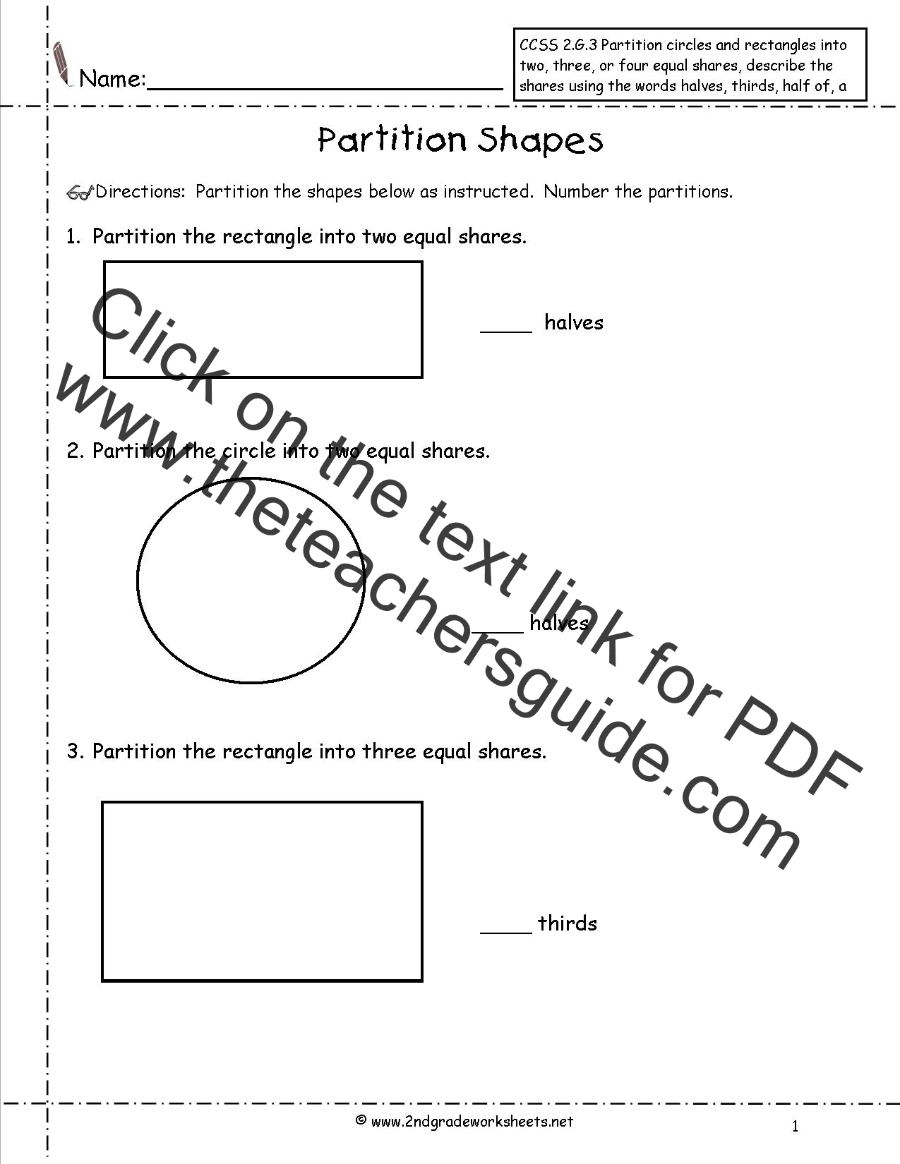 Maths Partitioning Free Worksheets