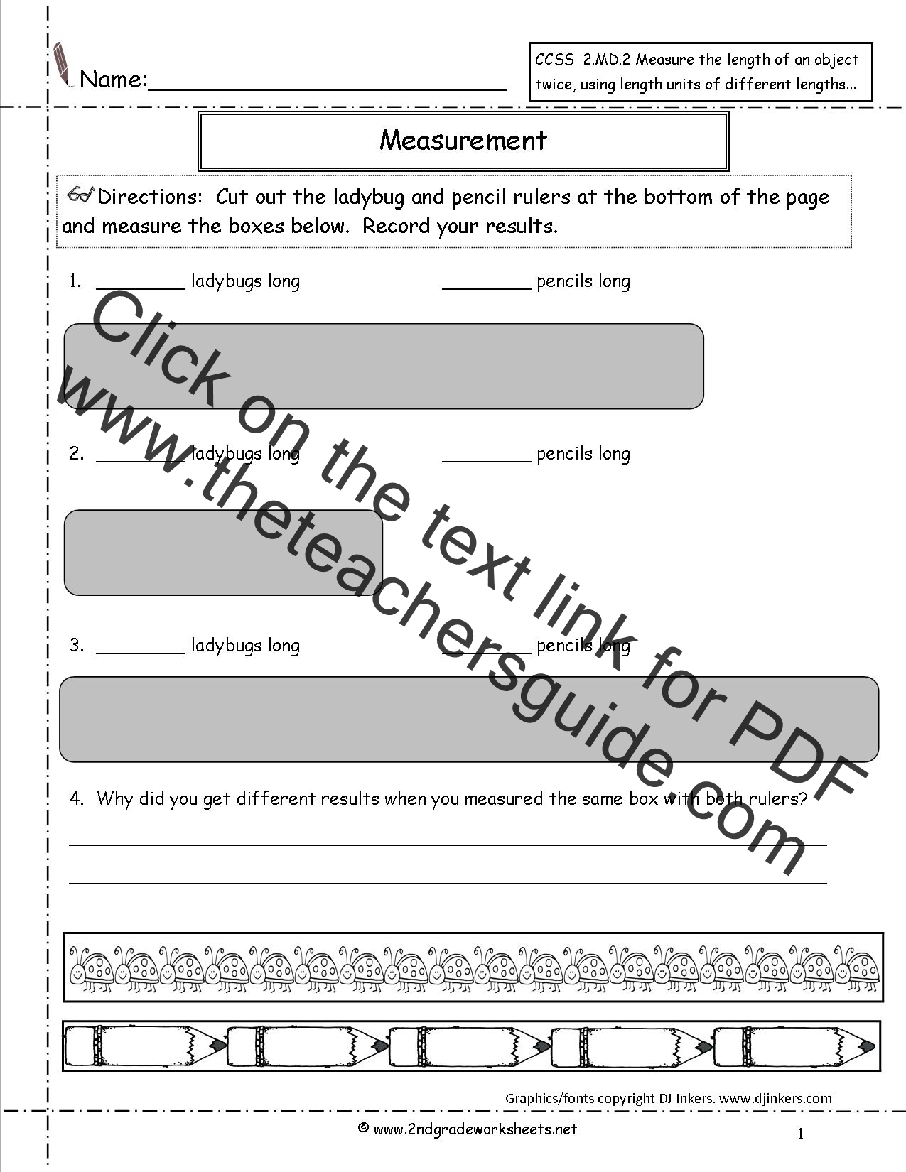 Standards Of Measurement Worksheet