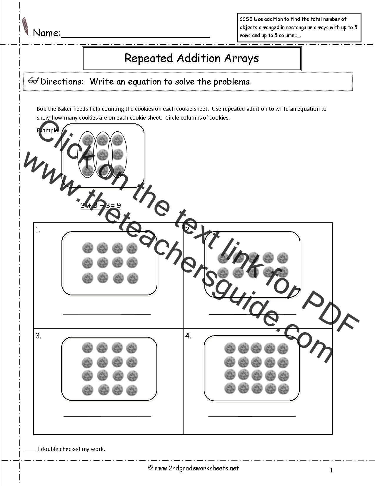 Search Results For Arrays Worksheets 3rd Grade