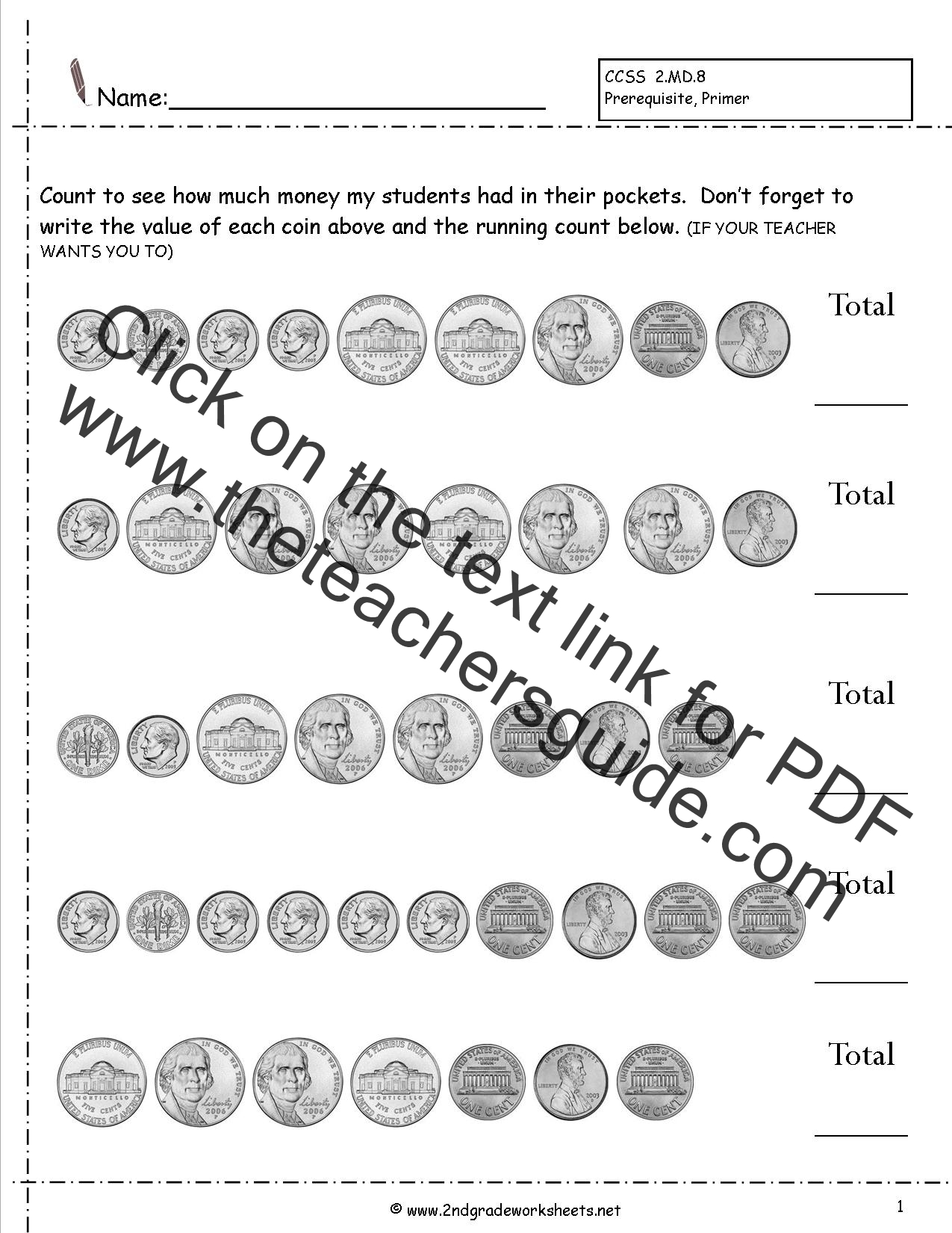 Printable Money Worksheets 2nd Grade That Are Playful