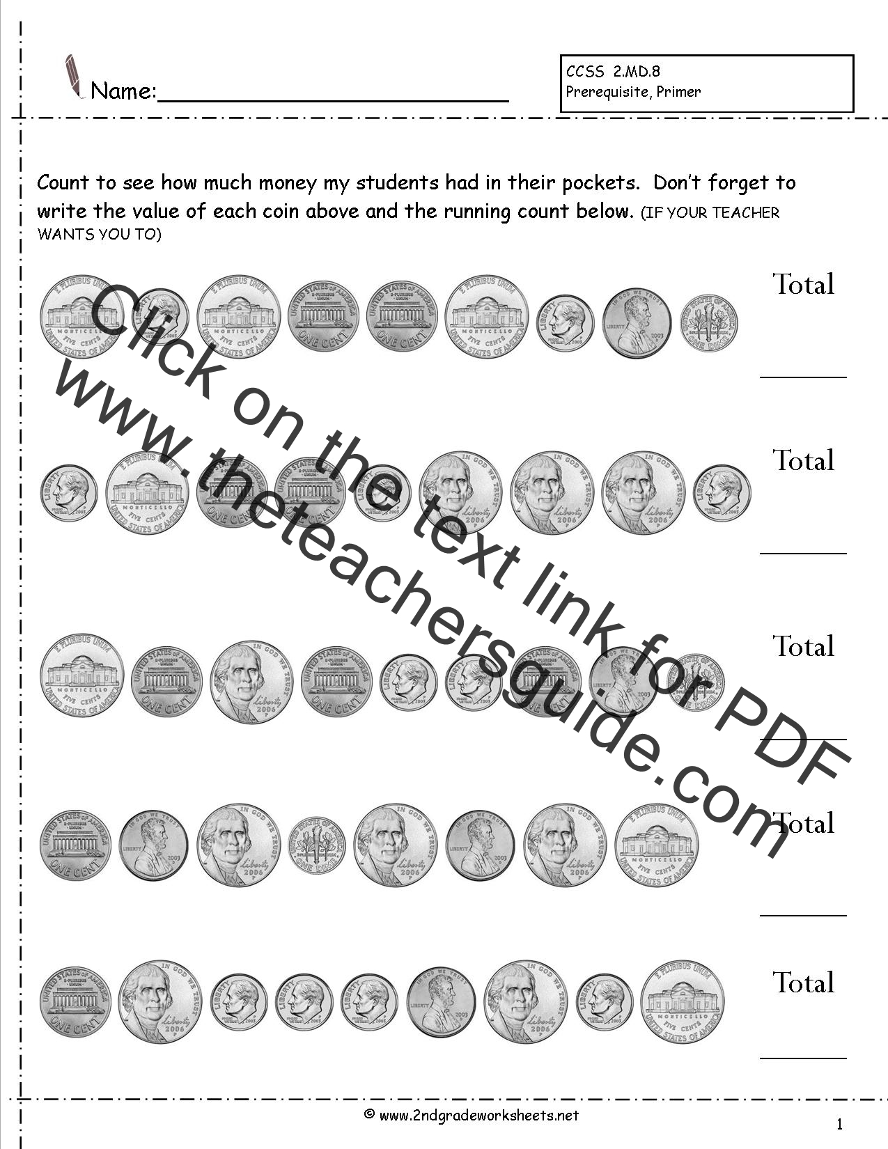Math Worksheets For 2nd Graders Measurement