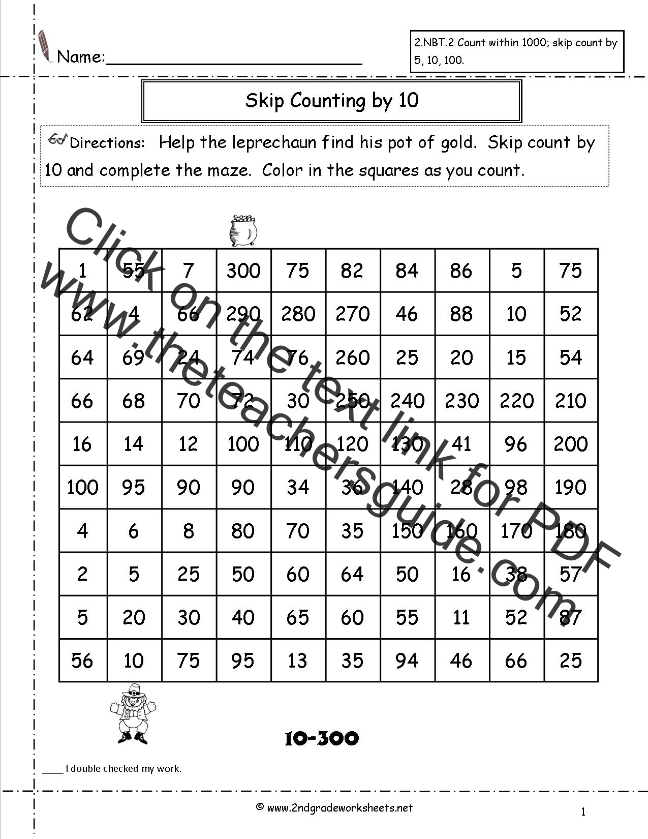26 Counting By 10 Worksheet
