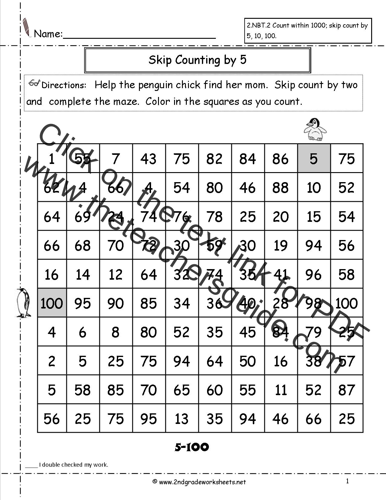Counting By 10 Worksheet
