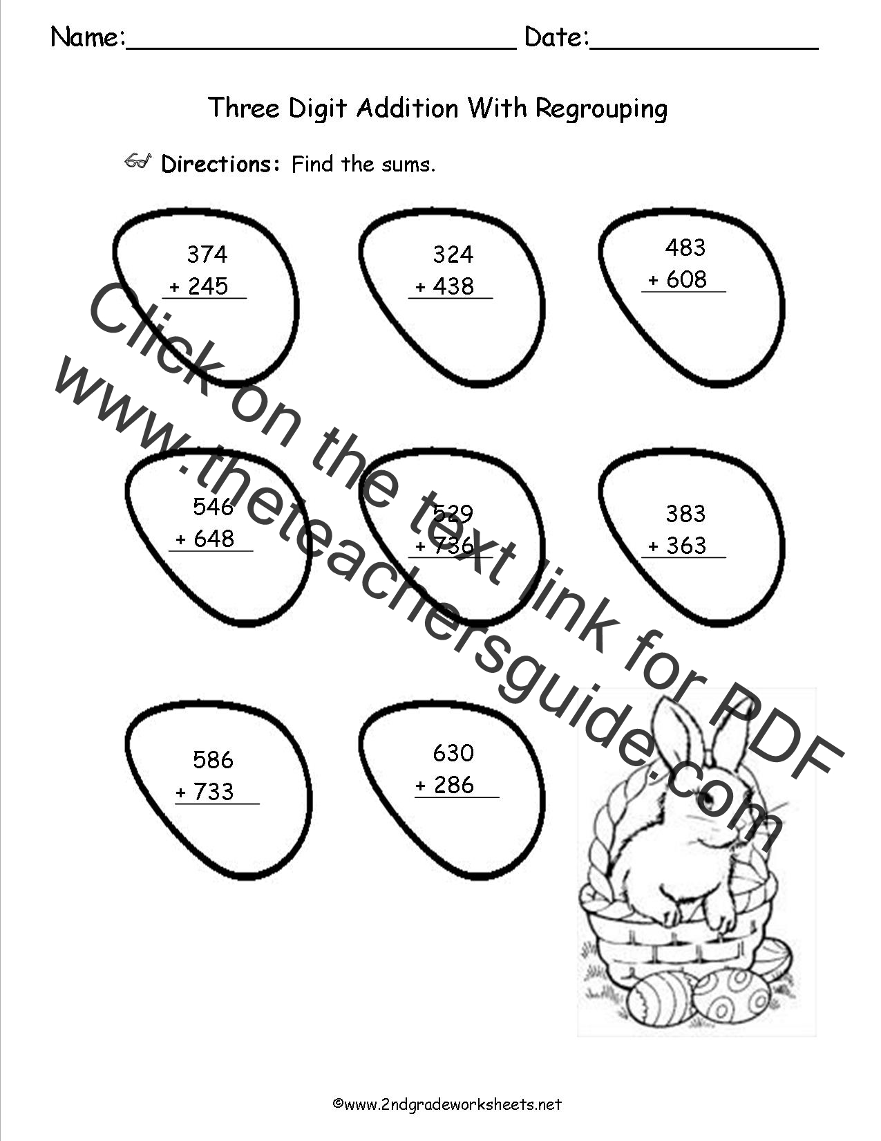 Addition With Regrouping Worksheet On Grid Paper