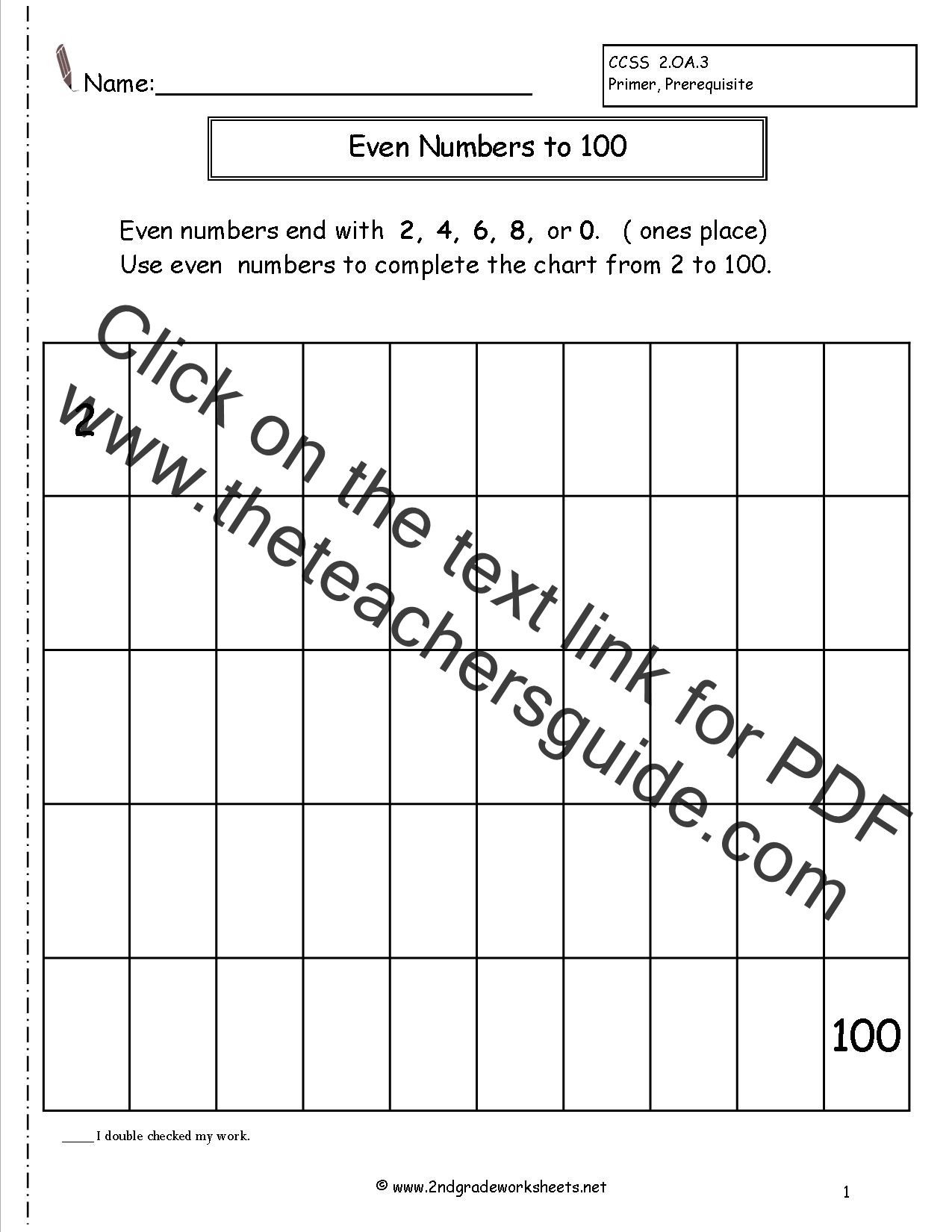 Even And Odd Numbers Worksheets Grade 2