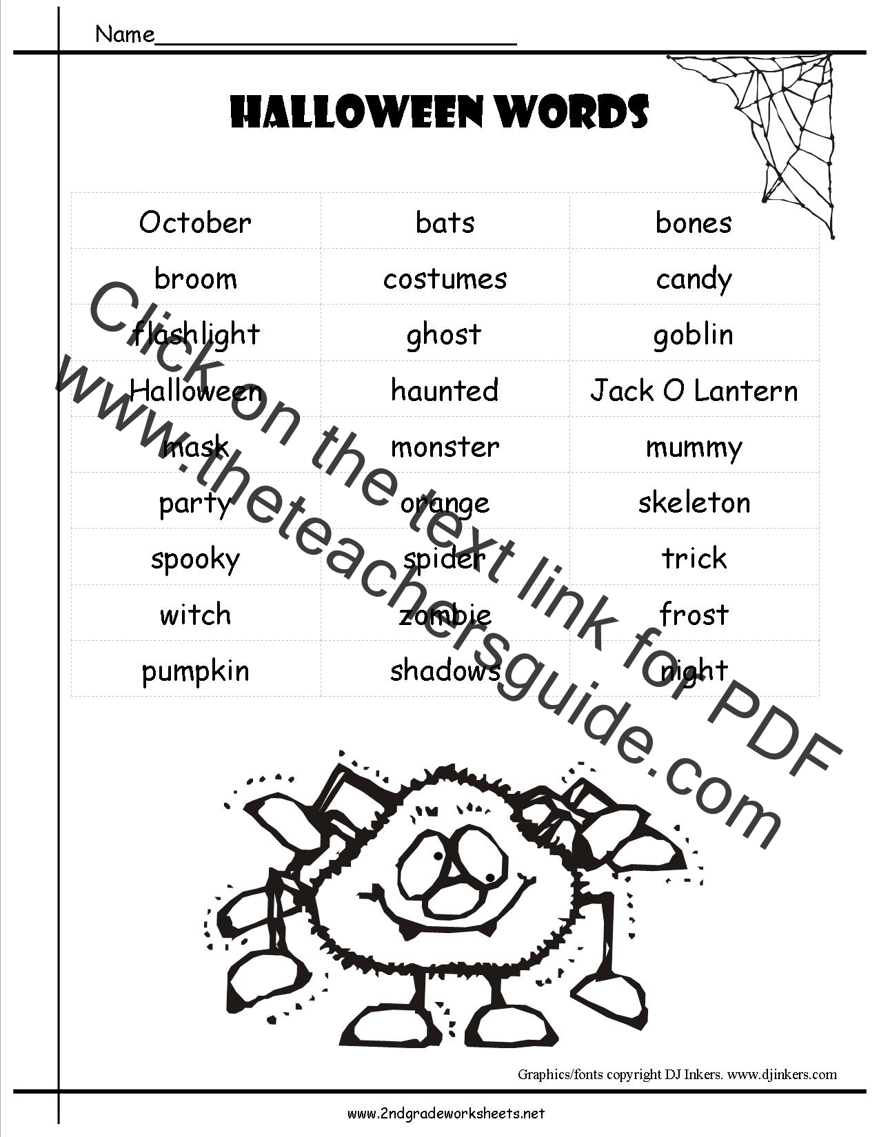 Vocabulary Words List