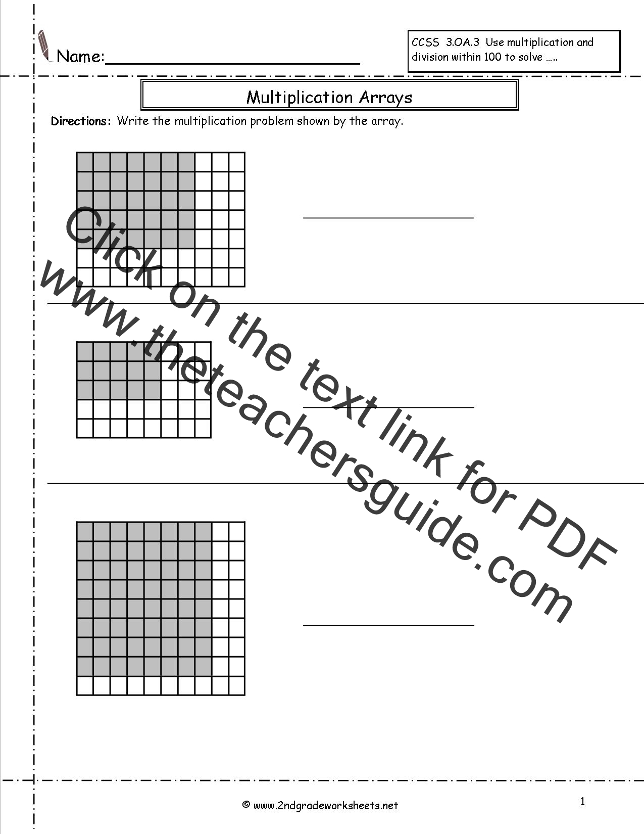 Search Results For Arrays Worksheet 2nd Grade Calendar