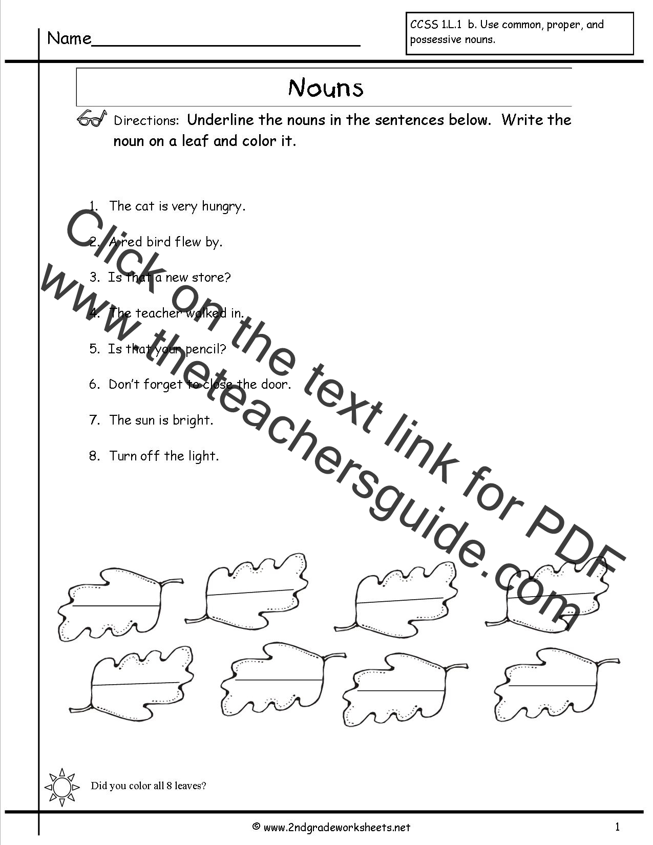 Kinds Of Nouns Worksheet For Class 3