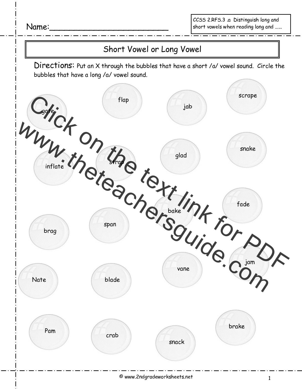 Phonics Worksheets 2nd Grade