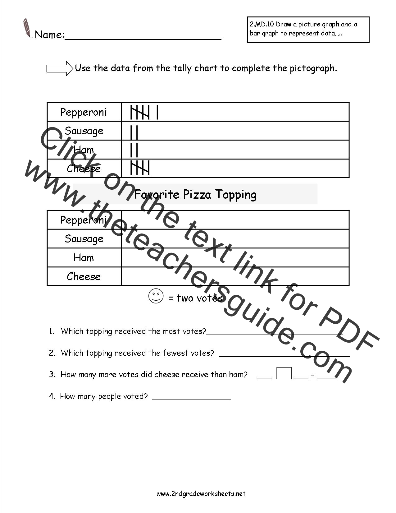 Search Results For Pictograph 2nd Grade Worksheets
