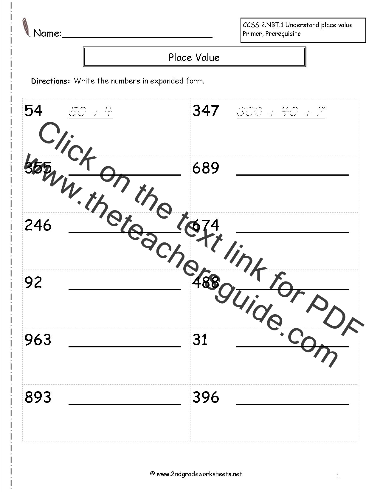 Number Recognition Worksheet 11