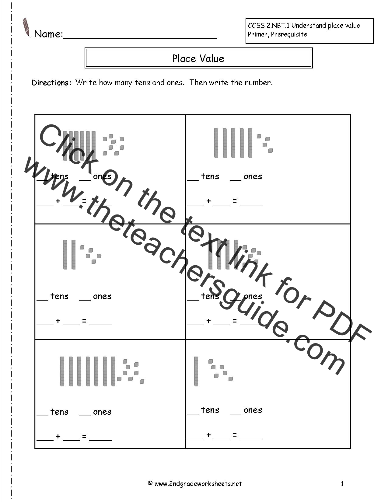 New 563 Teaching Place Value First Grade Worksheets
