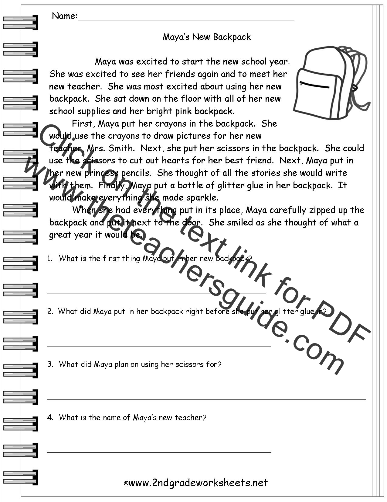 Main Idea Worksheets 3rd Grade Common Core