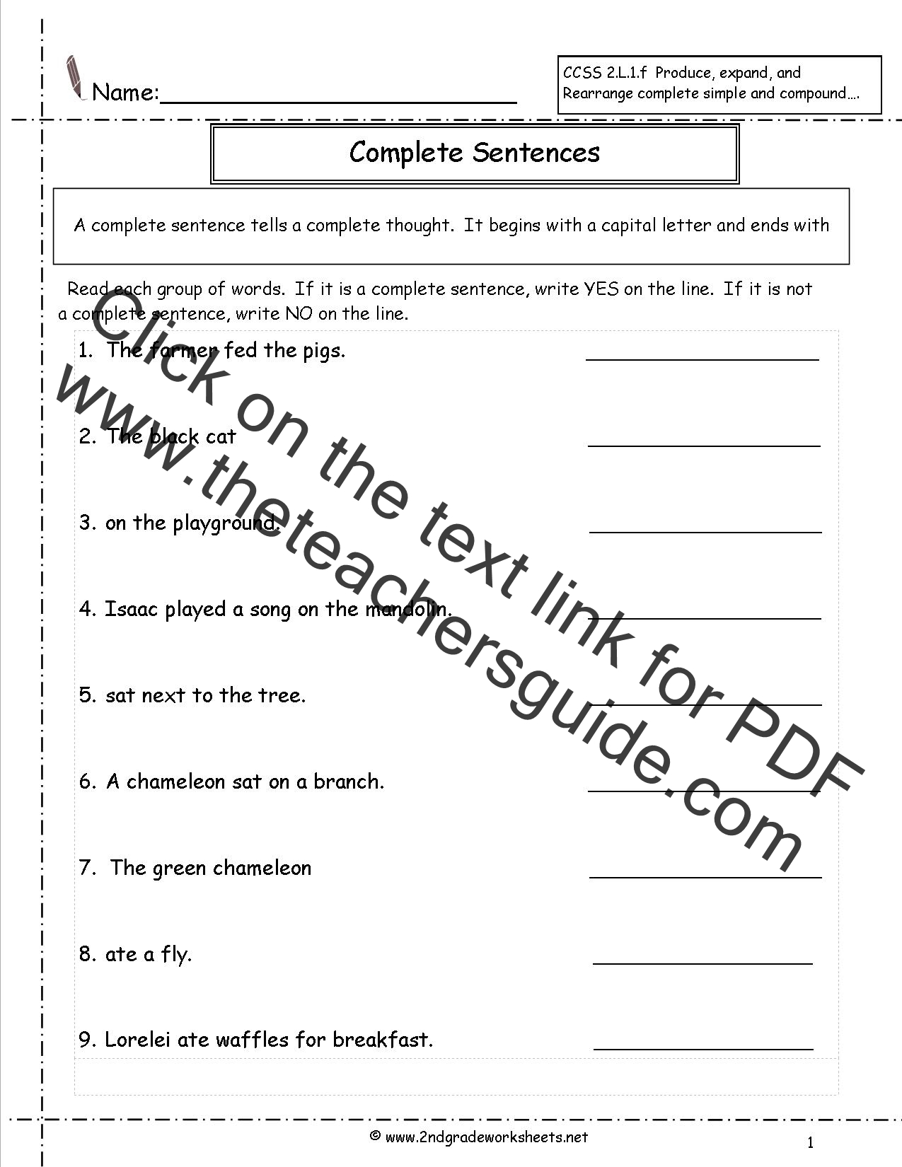 New 968 First Grade Common Core English Worksheets