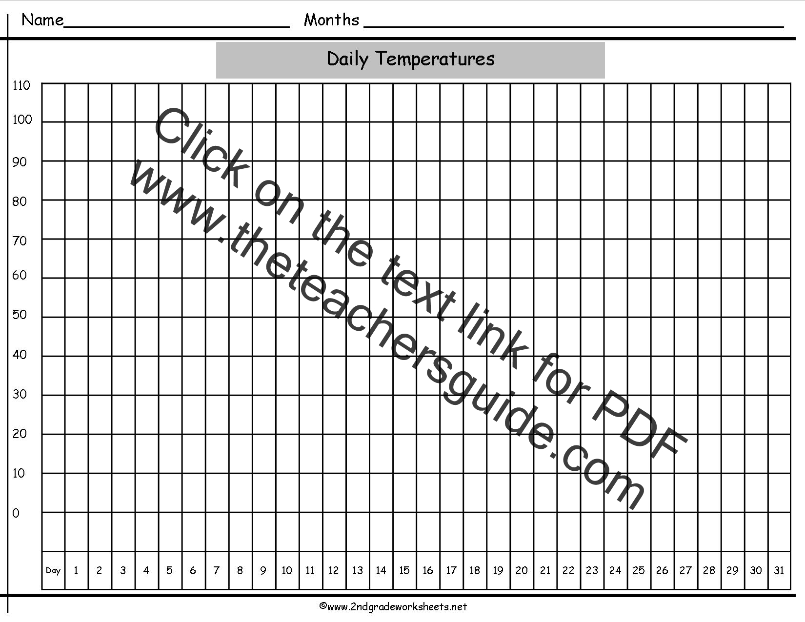 Blank Bar Graph Template Printable