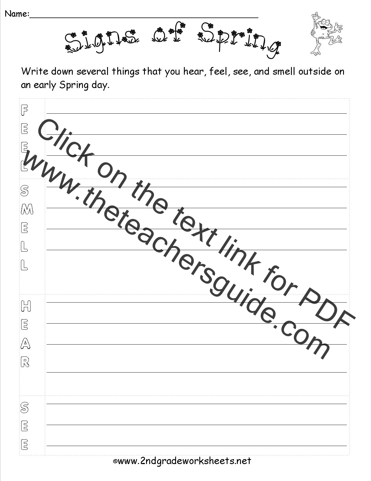 Theme Worksheets For 2nd Grade