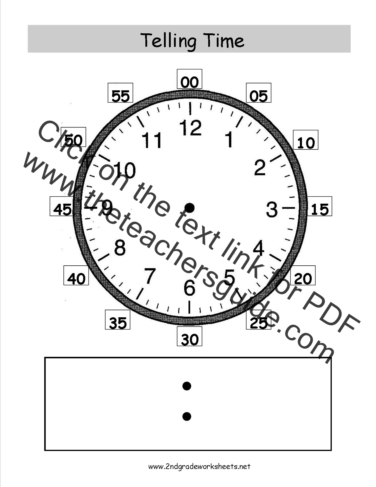 Search Results For Telling Time 2 Nd Grade Worksheet