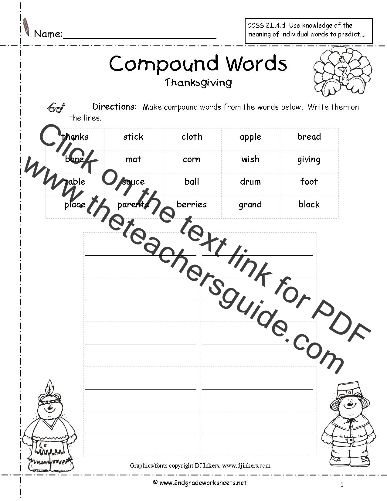Tally Worksheet For Third Grade