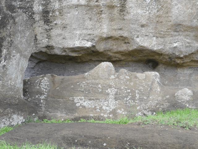 Moai im Herstellungsprozess