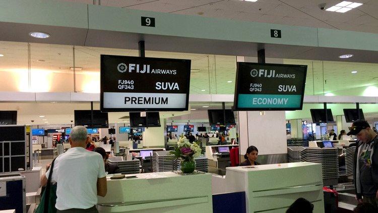 Qantas Business Class Lounge – Fiji Airways