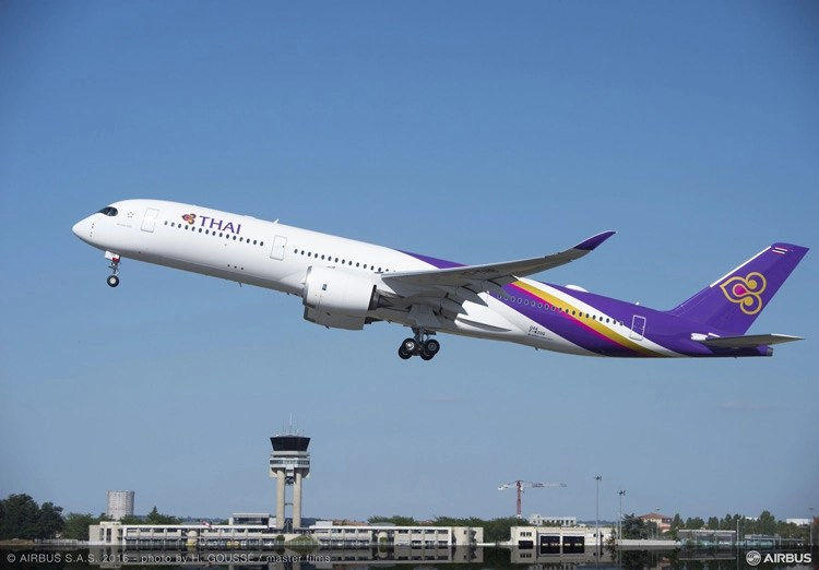 Thai Airways A350 finally makes it to Melbourne